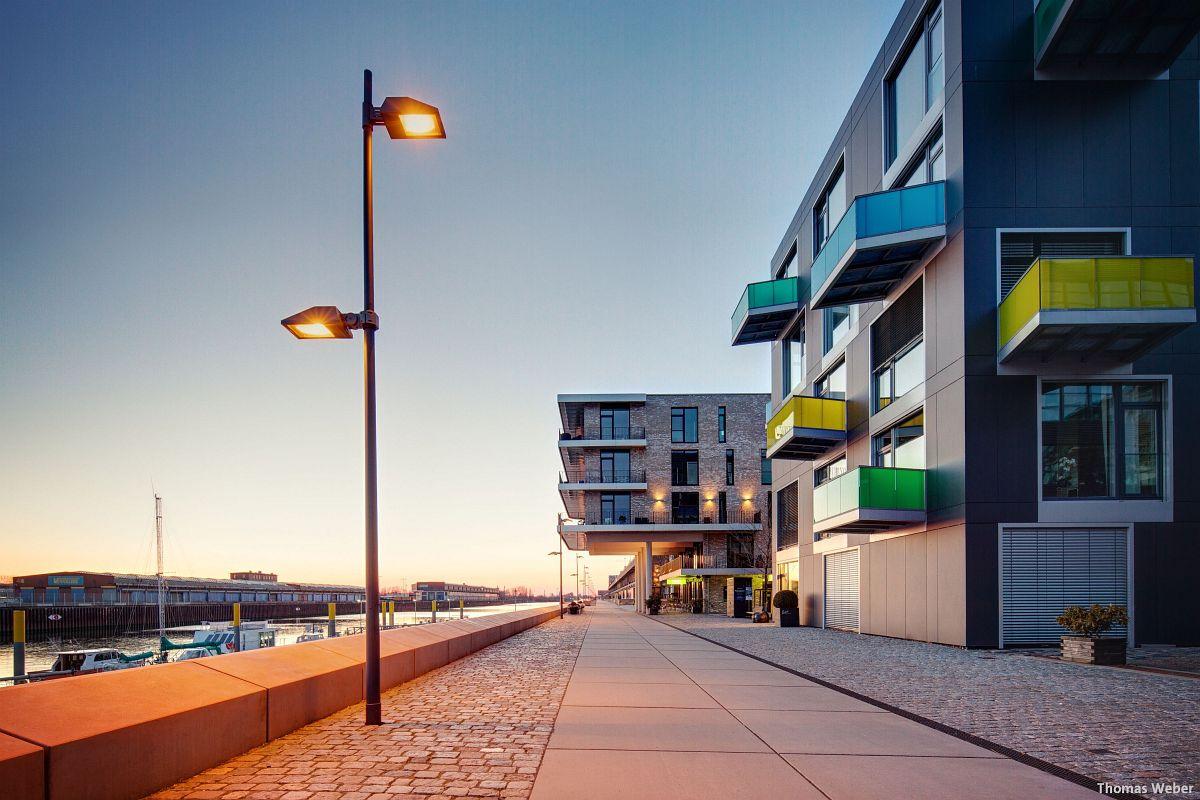 Architekturfotograf Bremen: Die Häuser der Überseestadt Bremen bei Sonnenuntergang (4)