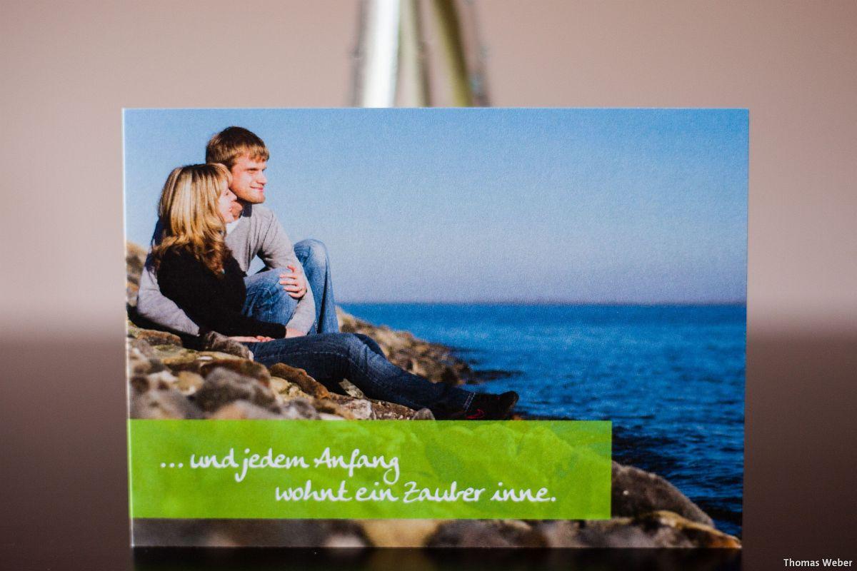 Hochzeitsfotograf Wilhelmshaven: Verlobungsfotos für die Einladungskarten zur Hochzeit (1)