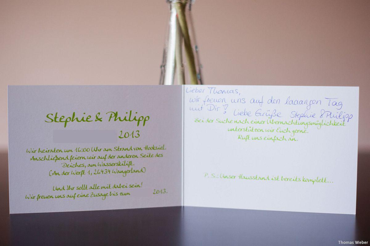 Hochzeitsfotograf Wilhelmshaven: Verlobungsfotos für die Einladungskarten zur Hochzeit (2)