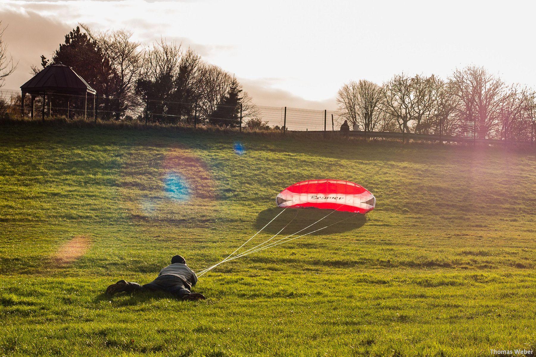Kite-Surfen auf dem Festland in Dangast (2)