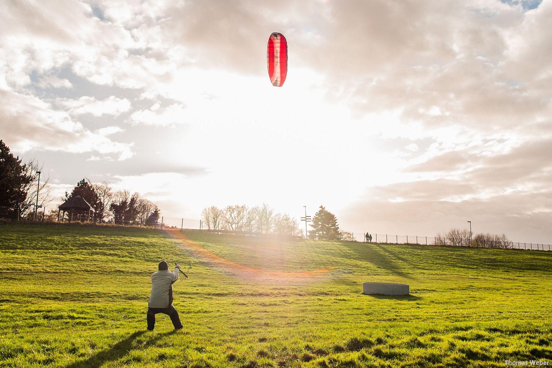 Kite-Surfen auf dem Festland in Dangast (1)
