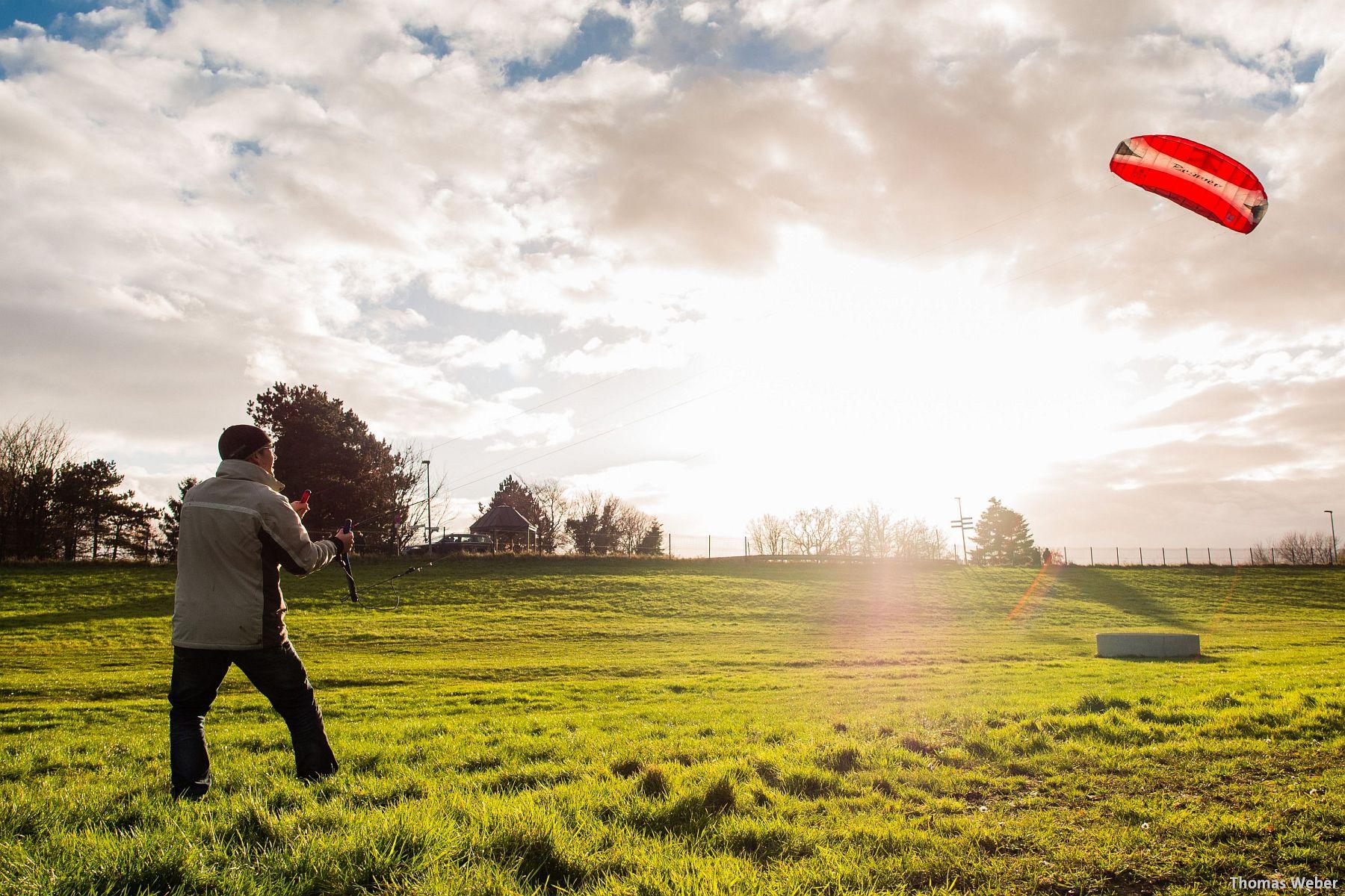 Kite-Surfen auf dem Festland in Dangast (5)