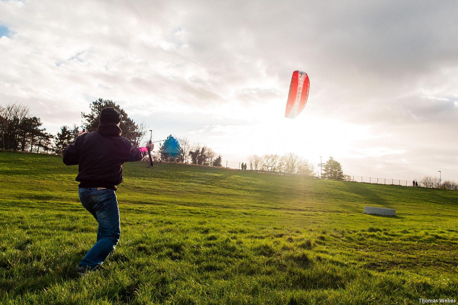 Kite-Surfen auf dem Festland in Dangast (4)