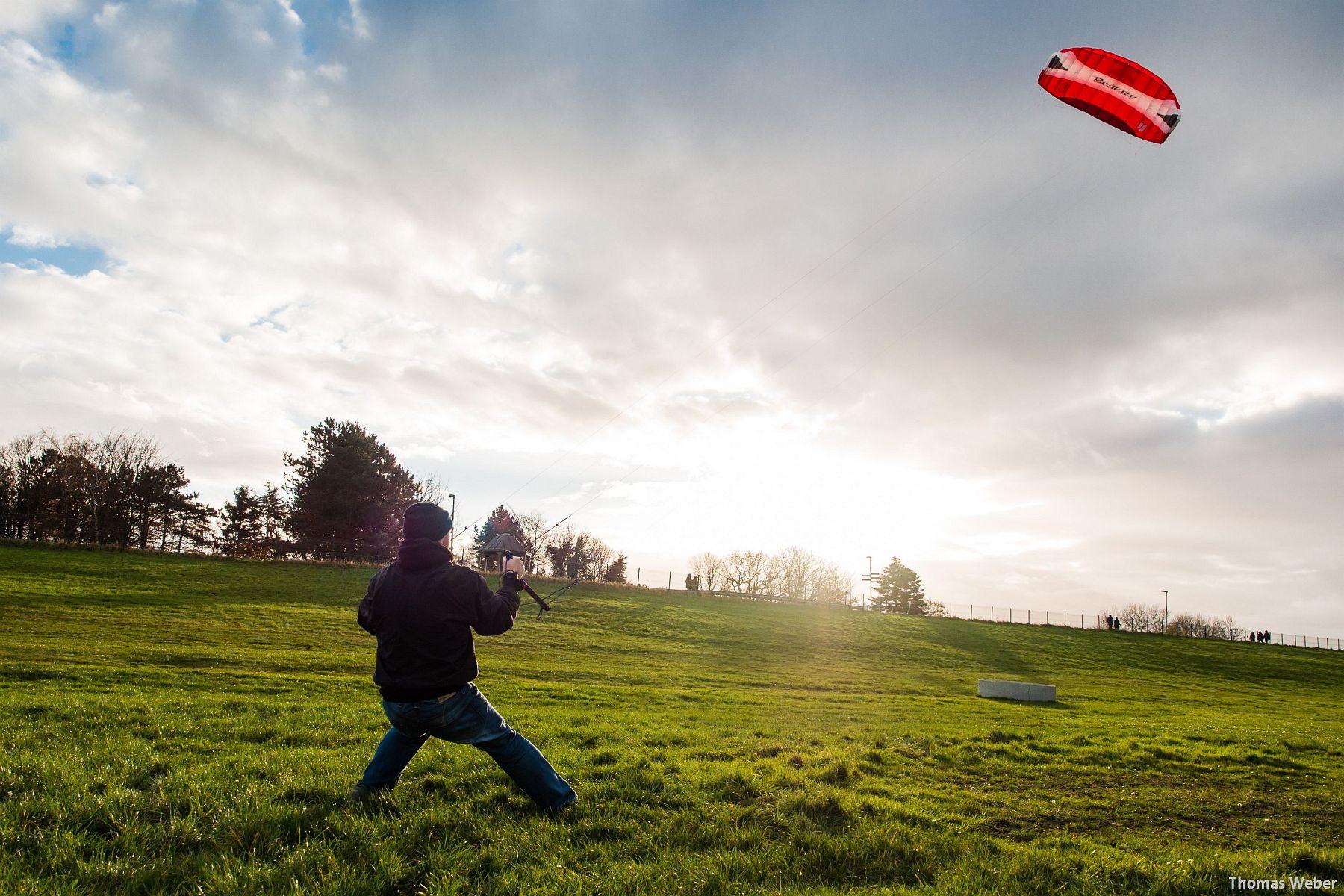Kite-Surfen auf dem Festland in Dangast (3)