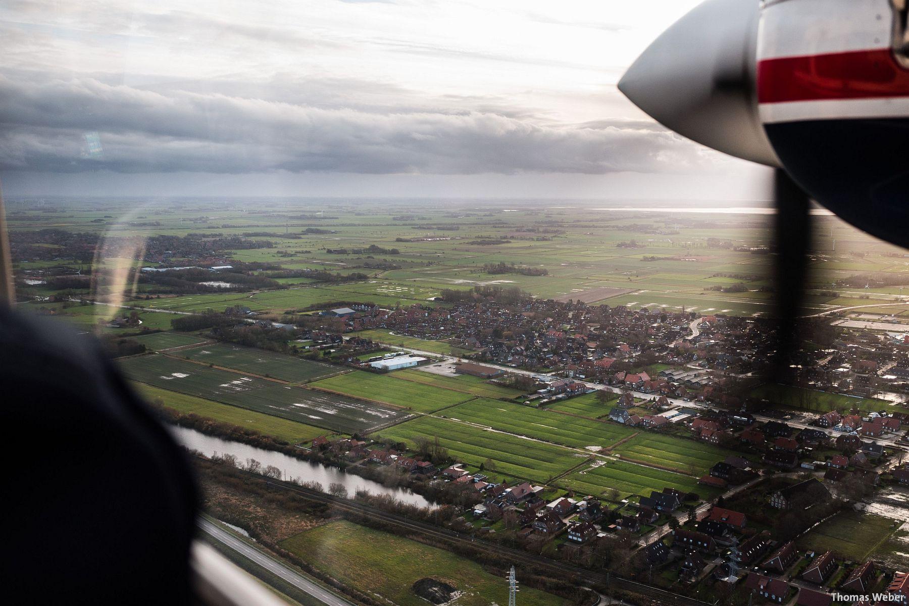 Fotograf Thomas Weber aus Oldenburg: Flucht vor dem Orkan Xaver mit dem Inselflieger Juist (10)