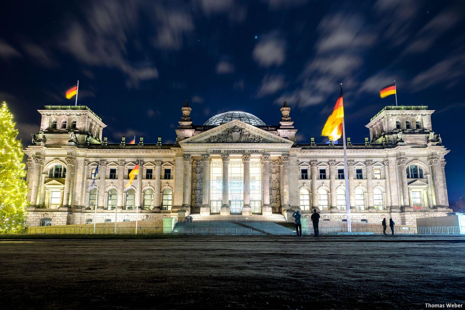 Fotograf Thomas Weber aus Oldenburg: Der Reichstag in Berlin bei Nacht