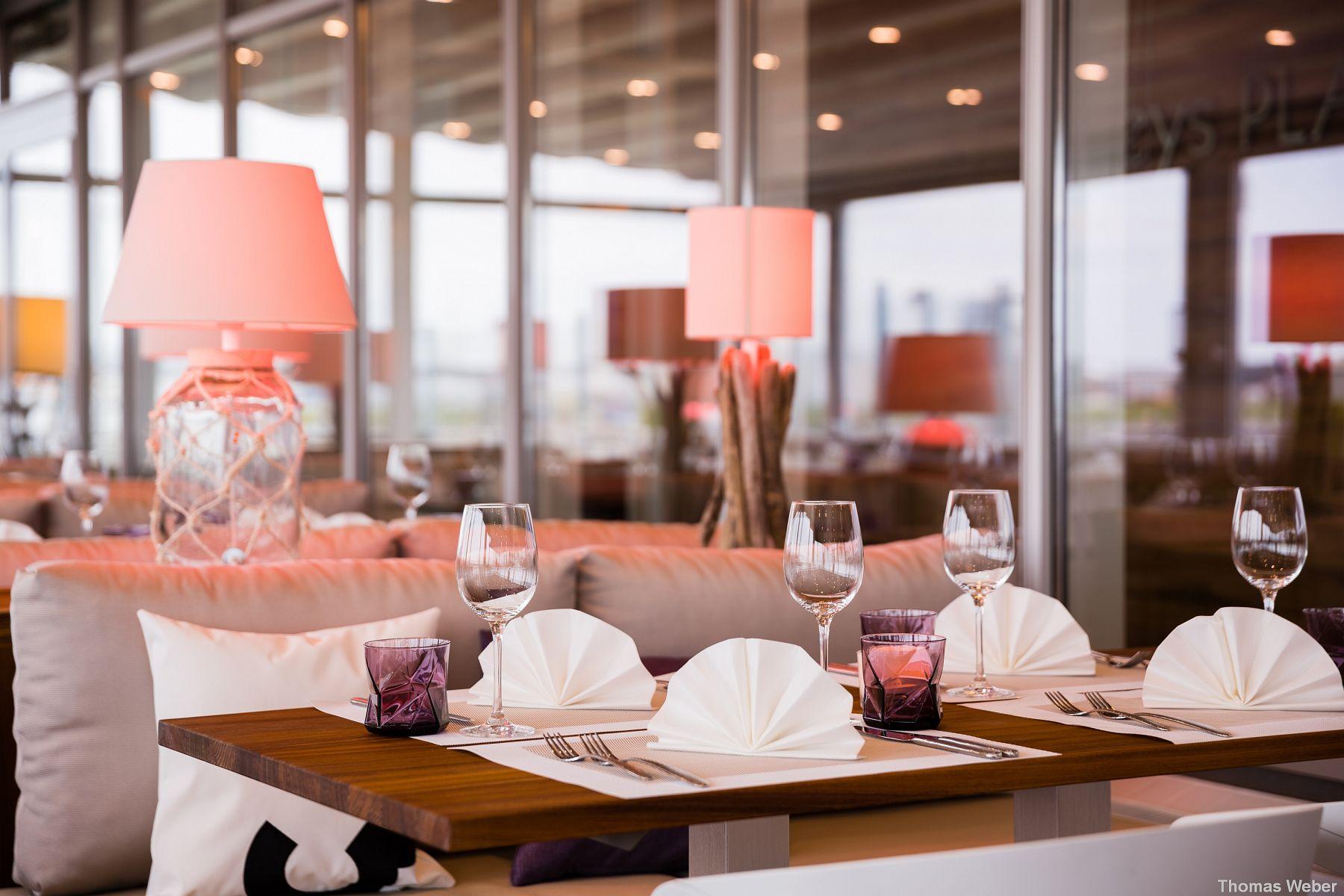 Fotograf Thomas Weber aus Oldenburg: Werbefotos des Neys Place auf Norderney für Hinsche Gastrowelt Oldenburg