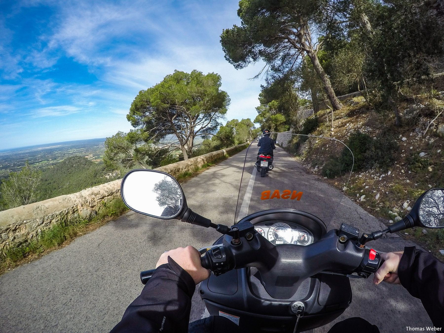 Fotograf Thomas Weber aus Oldenburg: Diverse Touren mit 125er Rollern im Frühjahr über Mallorca