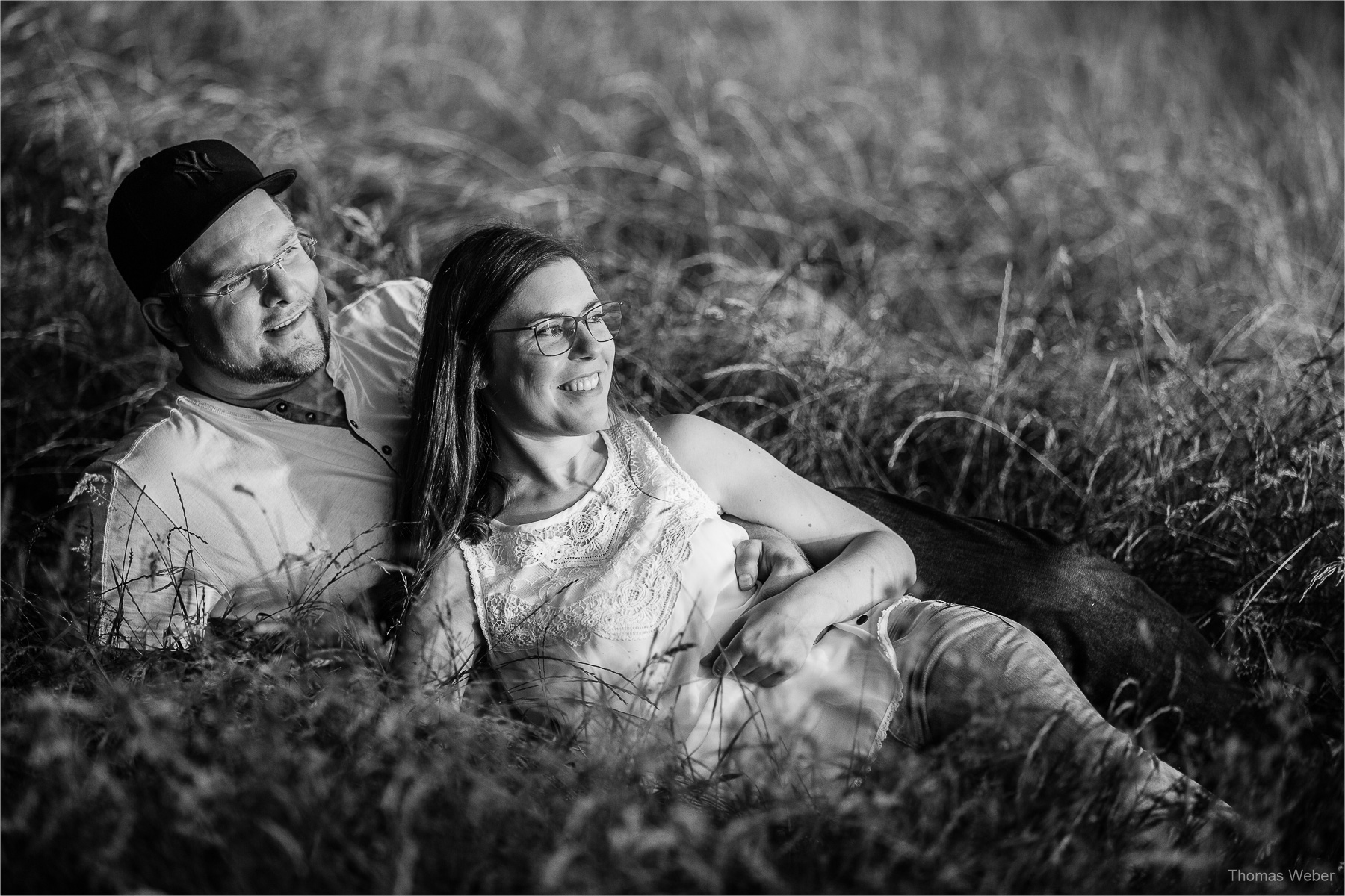 Paarfotos bei einem Engagement-Shooting vom Fotografen Thomas Weber in Oldenburg
