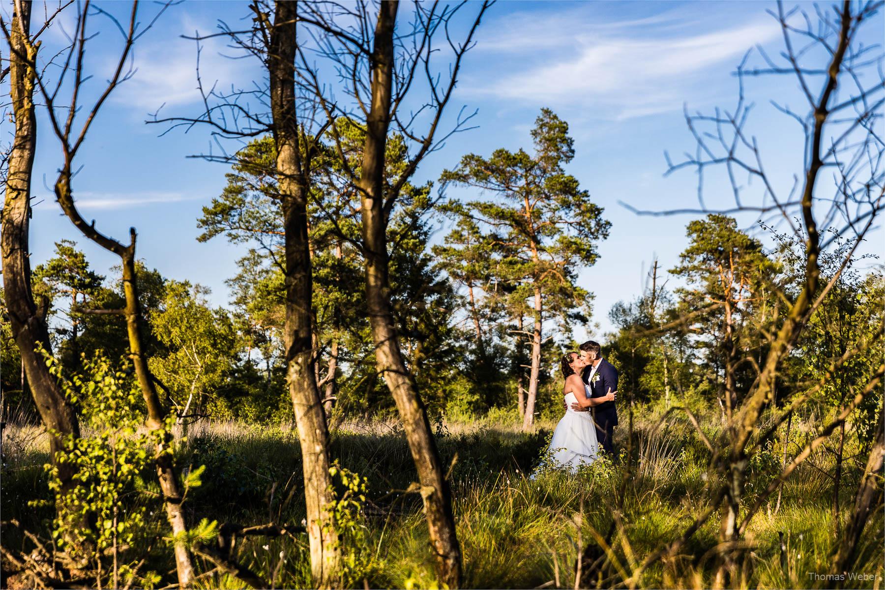 Hochzeitsportraits bei Sonnenuntergang, Fotograf Oldenburg