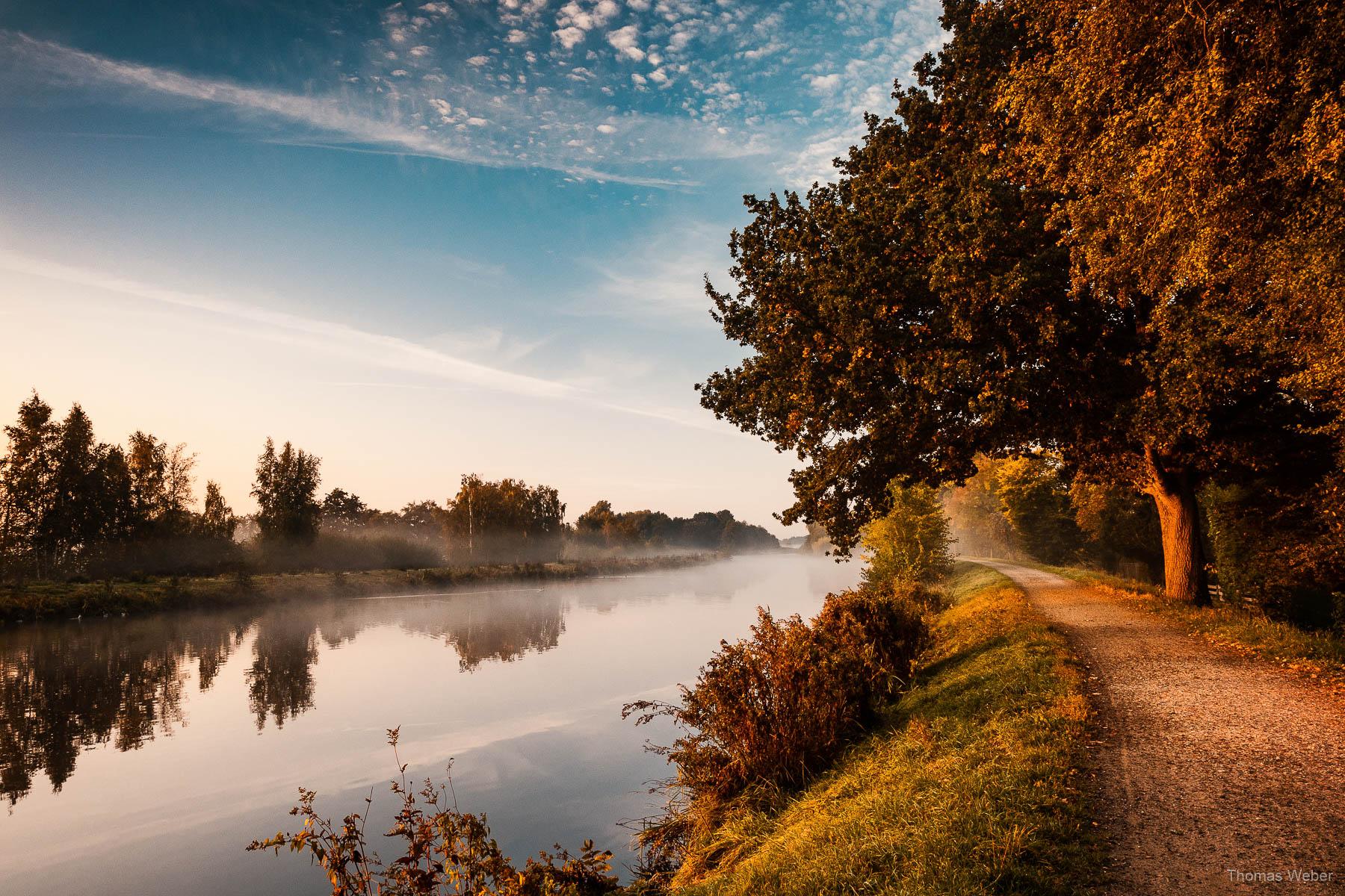 Sonnenaufgang an der Hunte in Oldenburg, Fotograf Thomas Weber aus Oldenburg