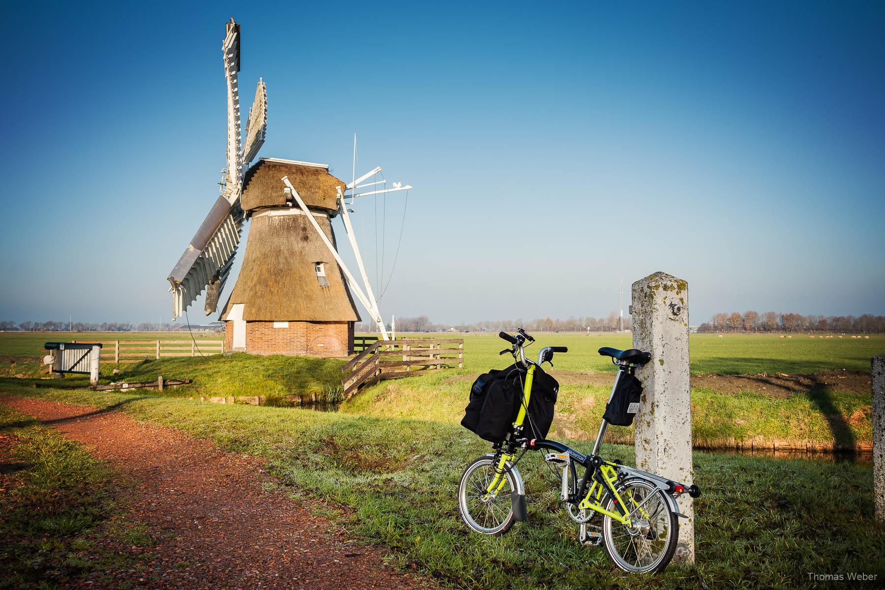 Die Windmühle Witte Lam in Groningen bei einer Fahrradtour durch Groningen, Fotograf Oldenburg, Thomas Weber
