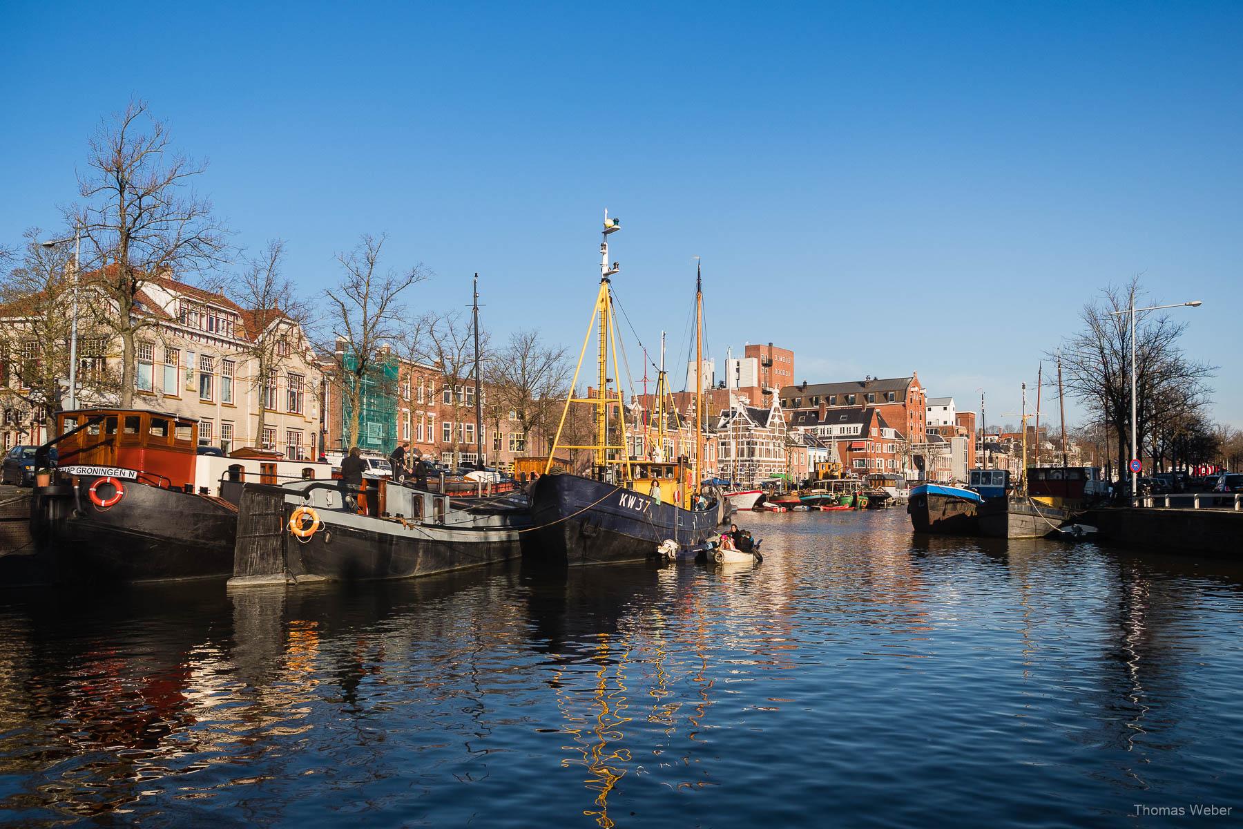 Der Zuiderhaven in Groningen bei einer Fahrradtour durch Groningen, Fotograf Oldenburg, Thomas Weber