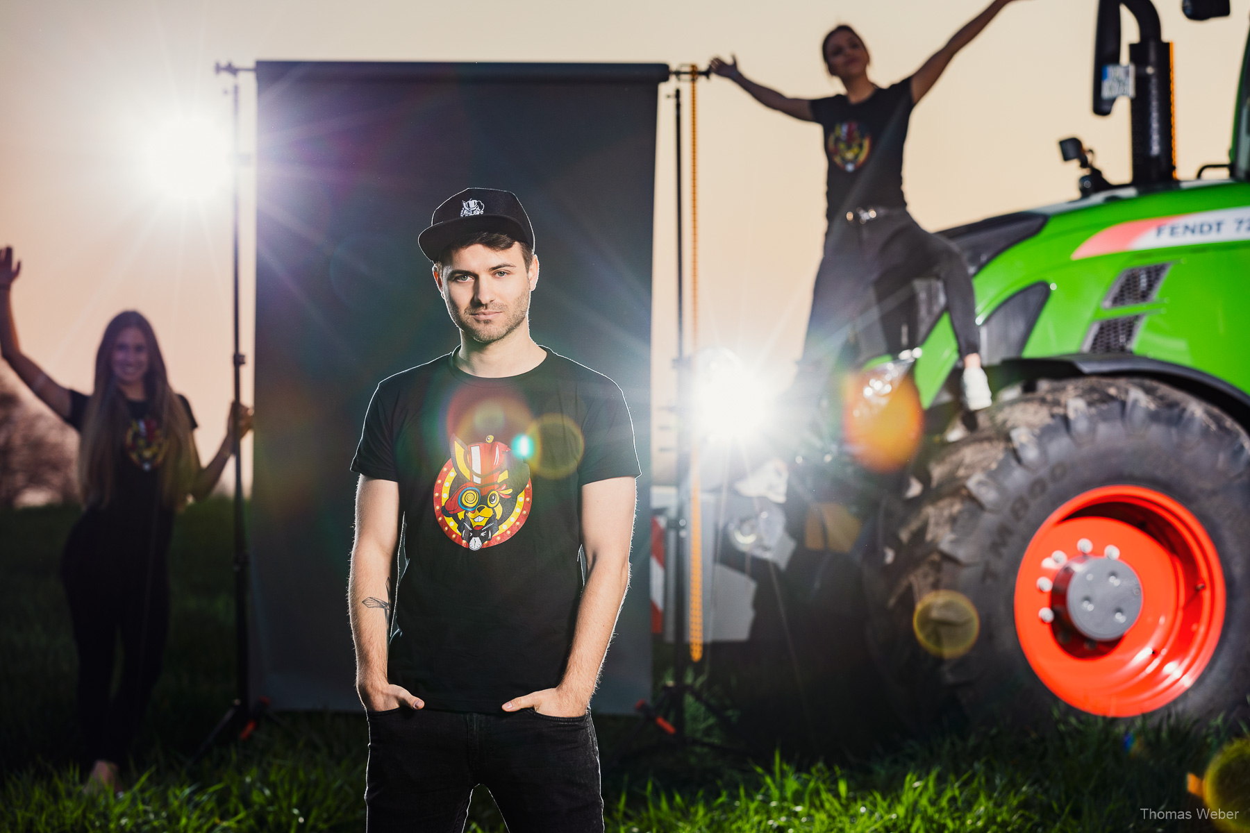 Fotoshooting für das Merchandise des TabulaRaaza Musikfestival in Wiemerslande, Fotograf Thomas Weber aus Oldenburg