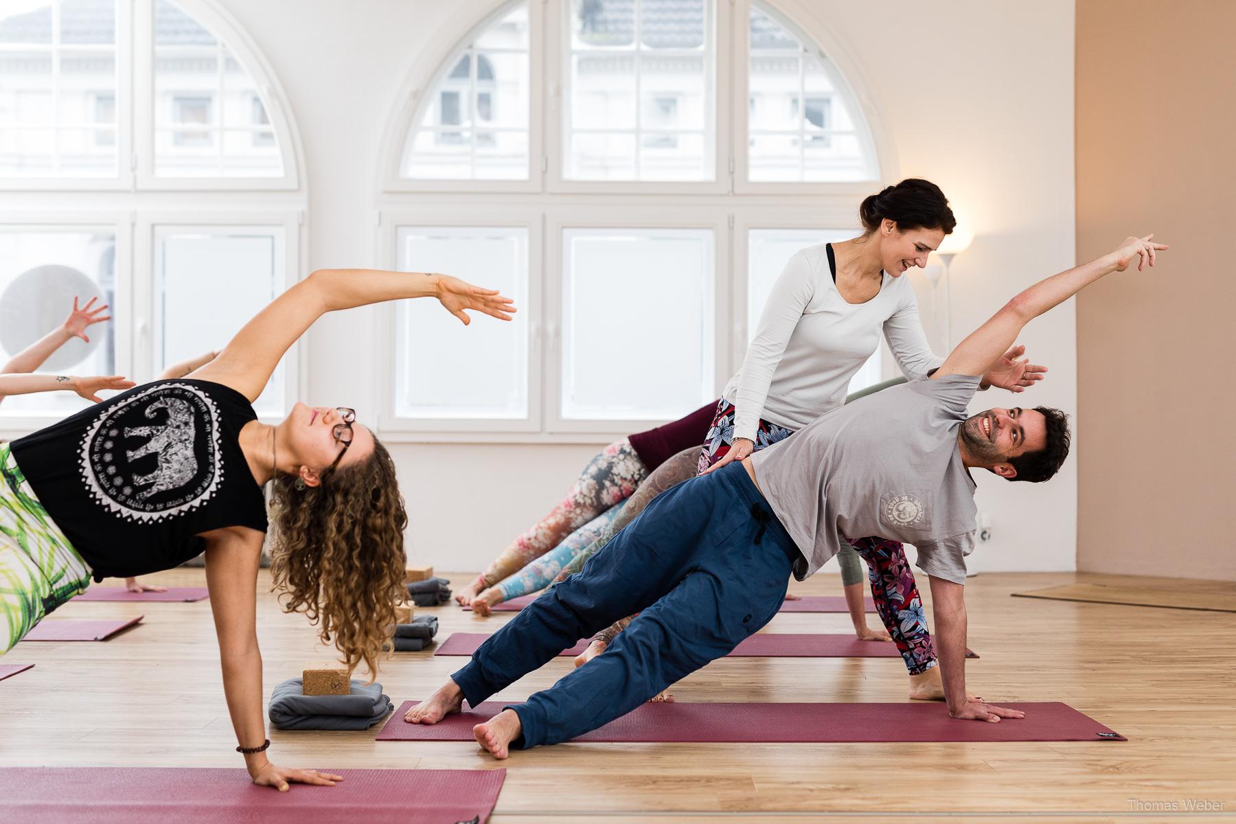 Werbefotos für das Yogaloft Oldenburg, Fotograf Thomas Weber aus Oldenburg