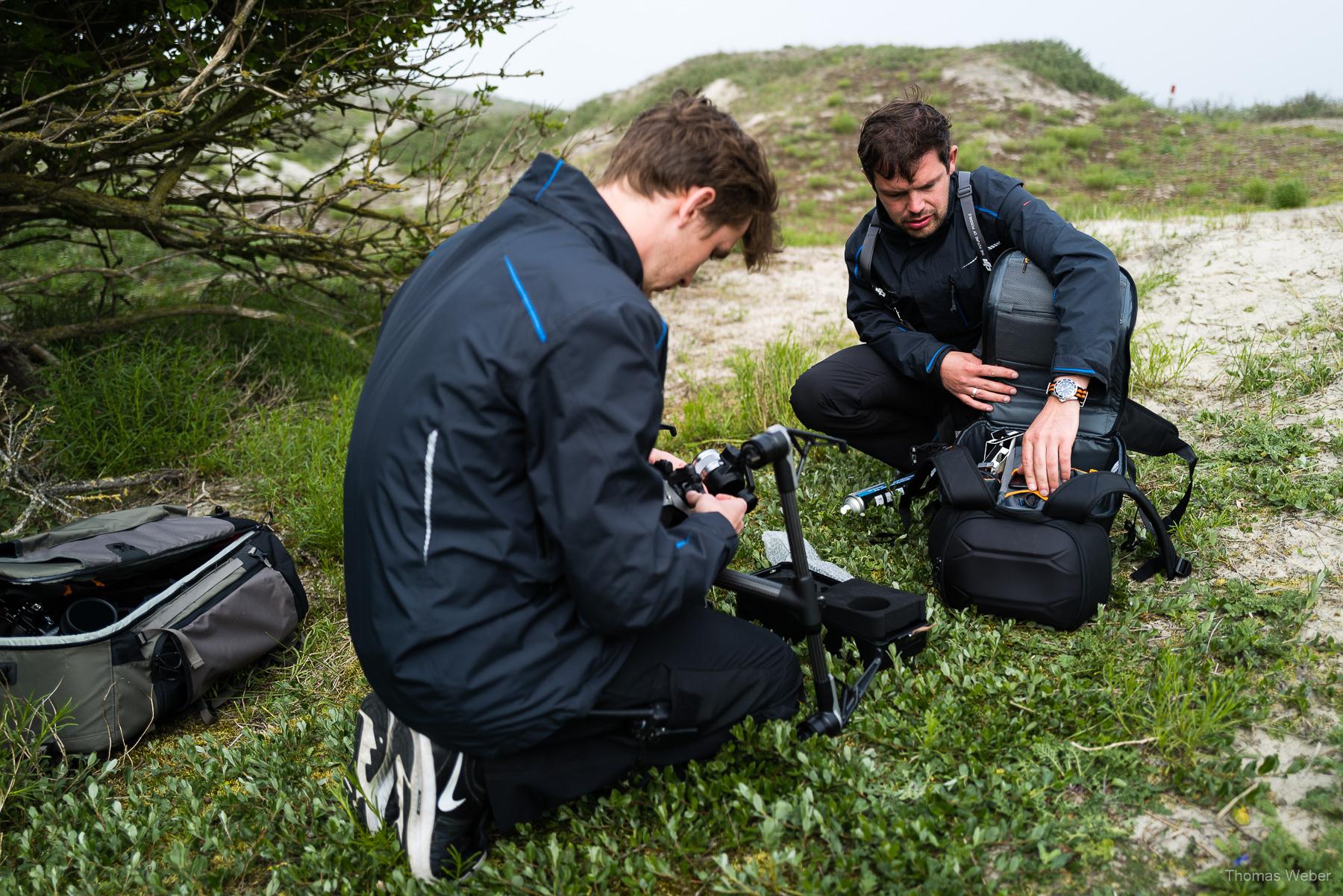 Filmdreh auf Norderney, Steffen Löffler und Thomas Weber