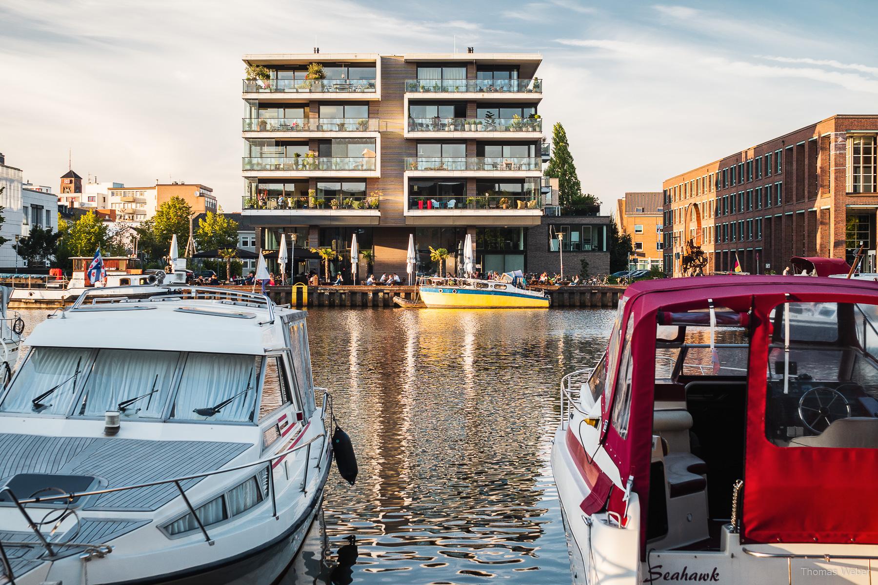 Yachthafen von Oldenburg, Hafen von Oldenburg, Hafenpromenade Oldenburg, Fotograf Thomas Weber