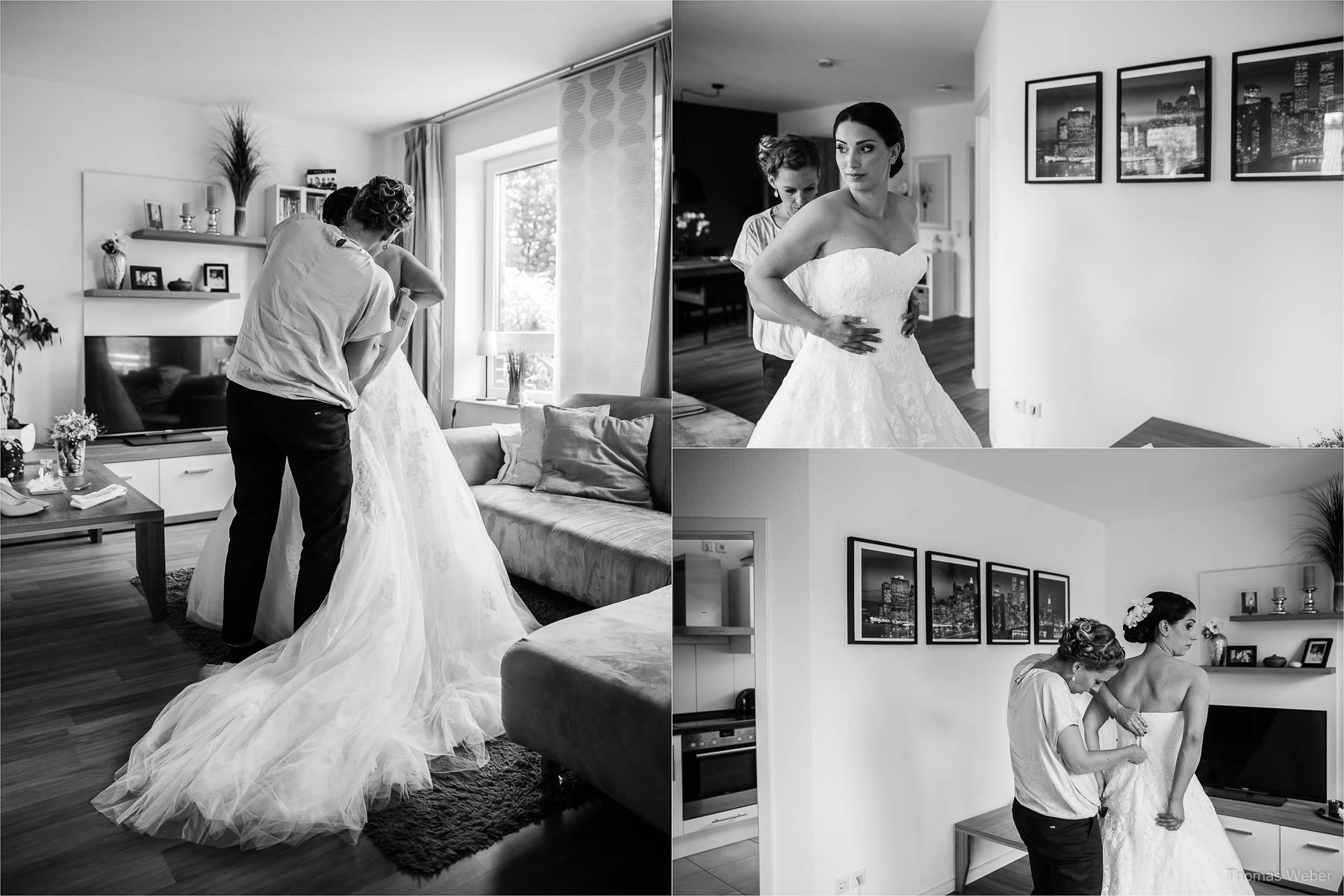 Standesamtliche Hochzeit am Standesamt am Pferdemarkt in Oldenburg, freie Trauung und Hochzeitsfeier auf dem Gut Horn in Gristede, Fotograf Oldenburg, Thomas Weber